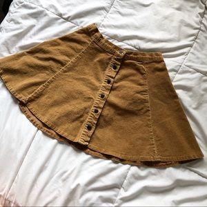 Brandy Melville Corduroy Mini Skirt